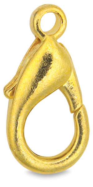 Small Lobster Claw Clasp, Gold Finish