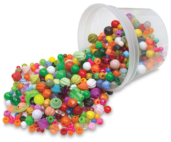 Assorted Plastic Beads