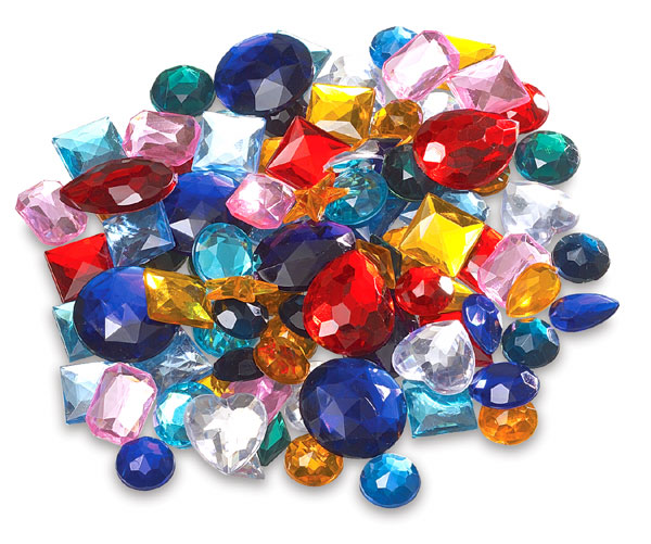 Creativity street acrylic gems blick art materials for Plastic gems for crafts