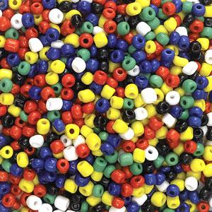 Opaque Glass E Beads, Multi
