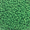 Opaque Glass E Beads, Green