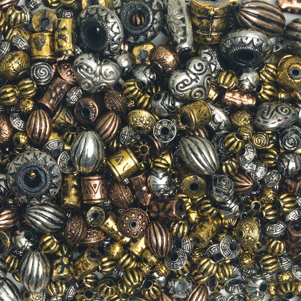 Assorted Metallized Beads, 16 oz