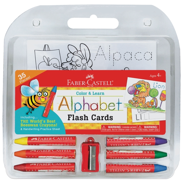 Color and Learn Alphabet Flash Cards