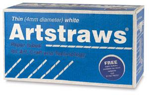 Artstraws, White