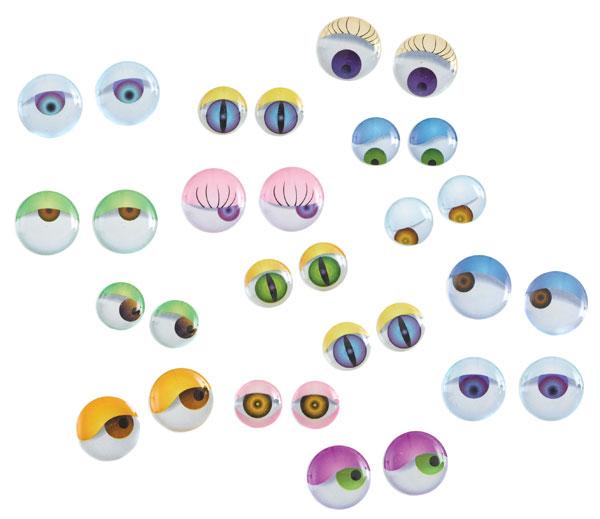 3-D Wiggle Eyes, Pkg of 64