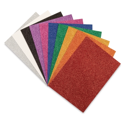 Glitter Colors, Pkg of 10 Sheets