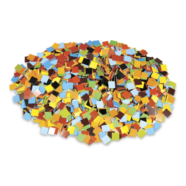 Earth Tone Mosaic Squares, Box of Approximately 10,000