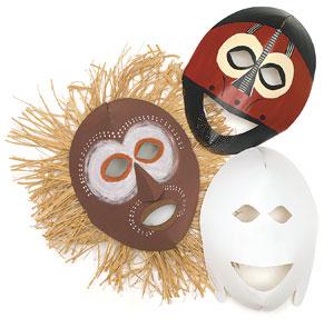 Blank Masks, Pkg of 20