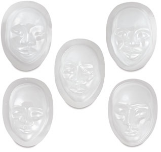 Multi-Cultural Face Forms, Pkg of 10