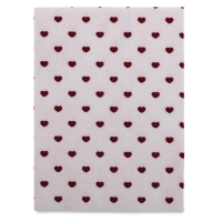 Coordinate Felt, Hearts (White w/Red Hearts)
