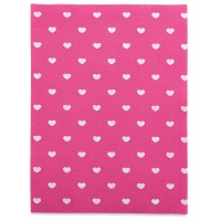 Coordinate Felt, Hearts (Candy Pink w/ White Hearts)