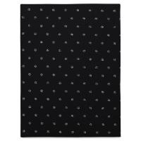 Coordinate Felt, Metallic Dots (Black w/ Silver Dots)