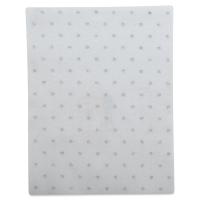 Coordinate Felt, Metallic Dots (White w/ Silver Dots)