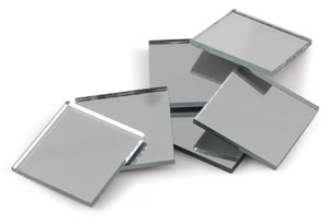 Mosaic Square Mirror Tiles, Pkg of 10