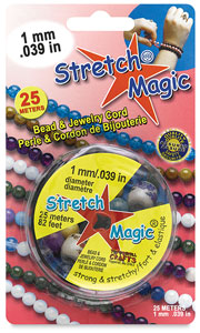 Stretch Magic Jewelry Cord, Black, 1mm