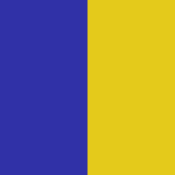 Royal Blue / Goldenrod