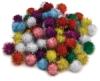 Glitter Poms, Pack of 80