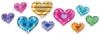 Hearts, Pkg of 37 Pieces