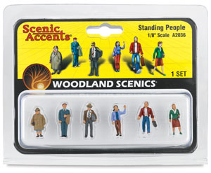 Scale People Standing, 1/8""