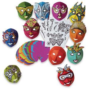 Mardi Gras Masks Class Pack