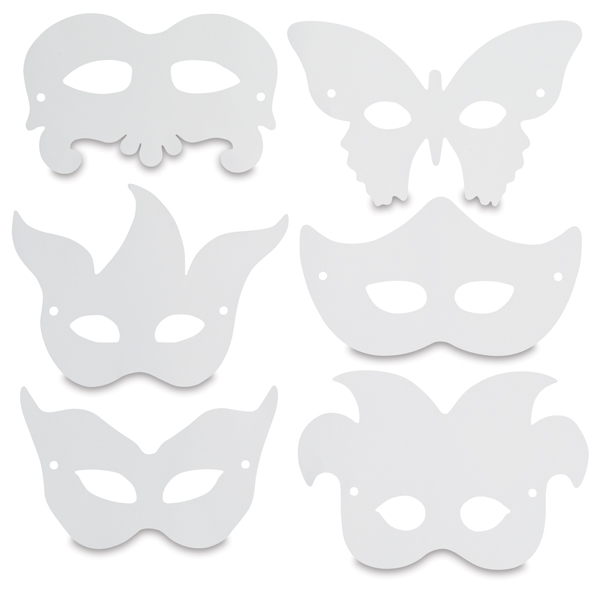 Mardi Gras Paper Masks, Pkg of 24