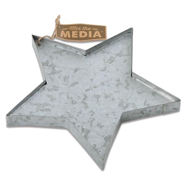 Galvanized Metal 3-D Shape, Heart