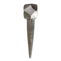 Cubeoctahedron Forged Iron Nails, Nickel (Close-up)