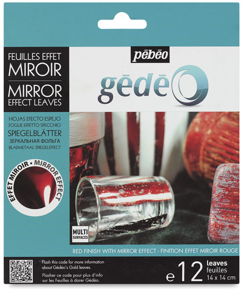 Gedeo Mirror Effect Metal Leaves, Red