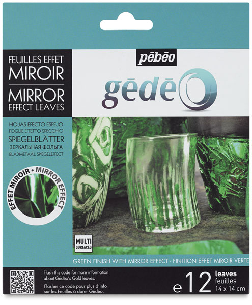 Gedeo Mirror Effect Metal Leaves, Green