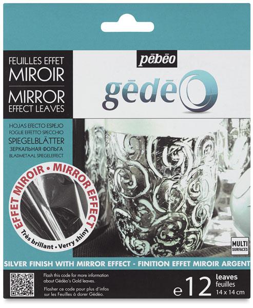 Gedeo Mirror Effect Metal Leaves, Silver