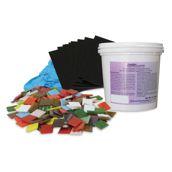 Peel-N-Stick Mosaic Coaster Kit, Pkg of 12