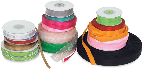 Ribbon Assortment, 2 lb Bag Assortment Example (Colors and Styles May Vary)