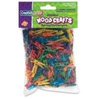 Bright Hue Mini Wooden Spring Clothespins, Pkg of 250