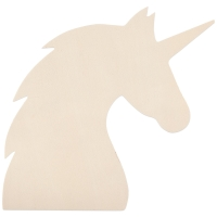 Unfinished Wood Shape, Unicorn