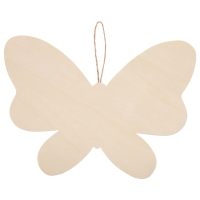 Unfinished Wood Shape, Butterfly