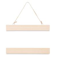 "Unfinished Wood Wall Art Hanger, 8"""