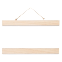 "Unfinished Wood Wall Art Hanger, 11"""
