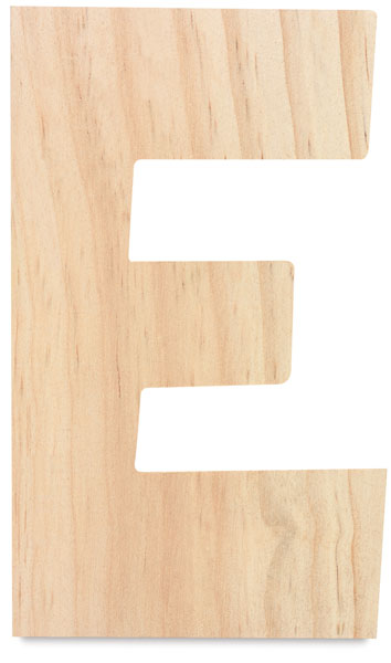 Unfinished Wood Letter E