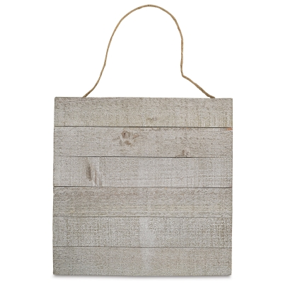 "Wood Plank Surface, Horizontal, 12"" × 12""<br>Weathered Wood"