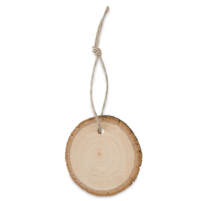 Wood Slice Ornament, Basswood Country Round