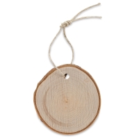 Wood Slice Ornament, Birch Round