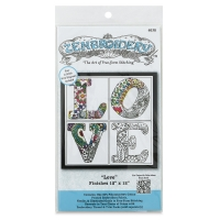 Zenbroidery Stamped Embroidery Kit, Love