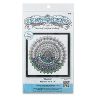 Zenbroidery Stamped Embroidery Kit, Mandala