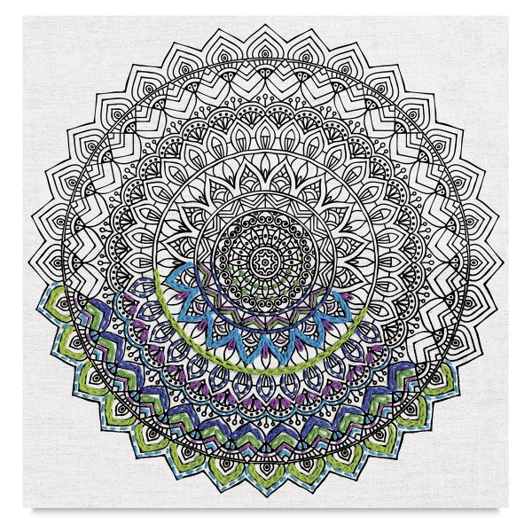 Zenbroidery Stamped Embroidery Kit, Mandala </br>(Embellishment Materials Sold Separately)