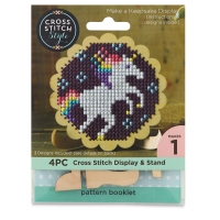 Wood Cross Stitch Display and Stand, Scalloped