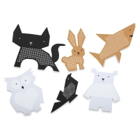 Punched Animal Shapes Kit, Pkg of 6