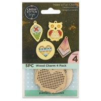 Wood Charms Pack, Pkg of 4