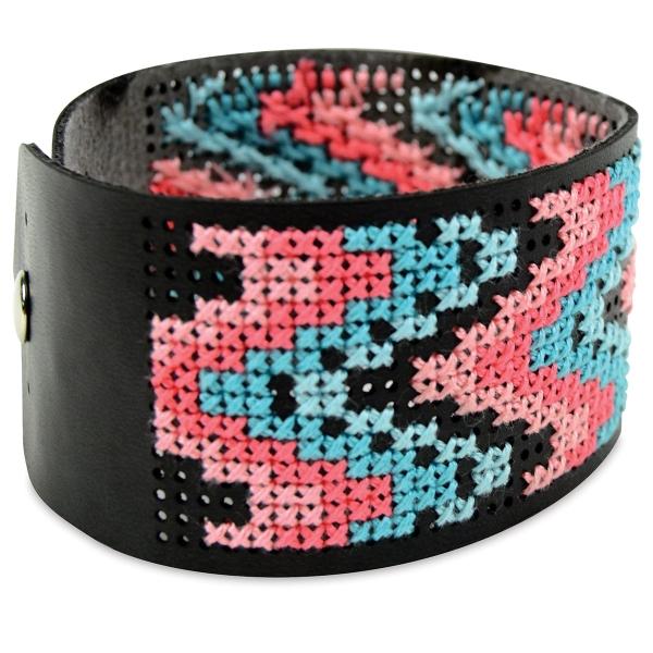 Vegan Leather Bracelet, Black