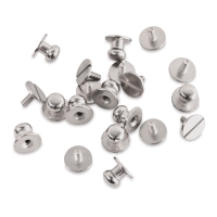 Button Studs, Pkg of 10, Nickel-Plated
