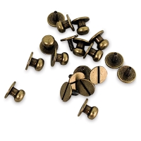 Button Studs, Pkg of 10, Antique Brass